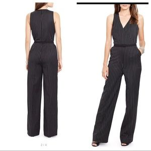 Lauren Ralph Lauren Faux Wrap Pinstriped Jumpsuit